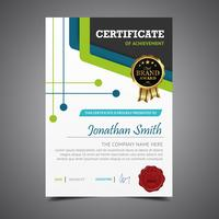 Green And Blue Diploma Template Height vector