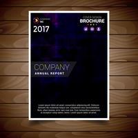 Dunkle purpurrote abstrakte Broschüren-Design-Schablone