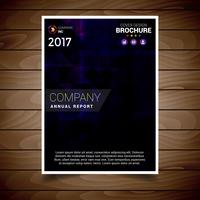 Donker paars abstracte brochure ontwerpsjabloon