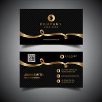 Elegant Black And Gold Business Card vector