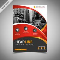 Red And Yellow Cover Template vector