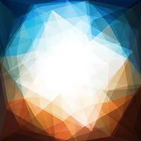 Circular Triangle Abstract Background