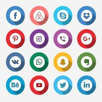 Colored Social Media Icon