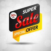 Black Special Offer Sticker