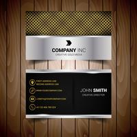 Gold And Black Abstract Business Card