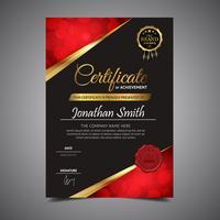 Diploma de plantilla elegante negro