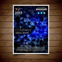 Blue Abstract Brochure Design Template