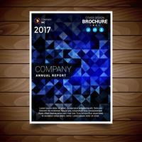 Blaue abstrakte Broschüre Designvorlage