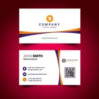 Orange Purple Line Business Card