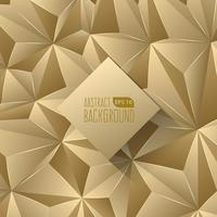 Gold Triangle Abstract Background vector