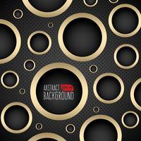 Fondo oscuro y dorado con agujeros circulares