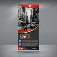 Elegante rode roll-up