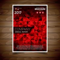 Red Abstract Brochure Design Template vector