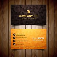 Golden Orange Business Card