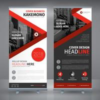 Red Roll Up Design vector