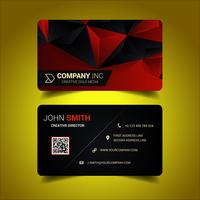 Red Abstract Corporate Business Card