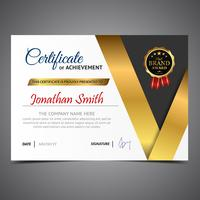 Black And Gold Diploma Template
