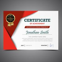 Red Elegant Diploma Template