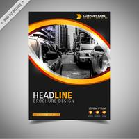 Black And Yellow Cover Template vector
