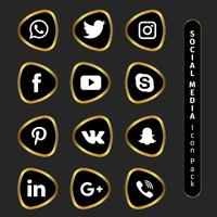 Elegante gouden Social Media-collectie