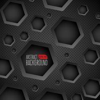 Fondo oscuro con agujeros hexagonales