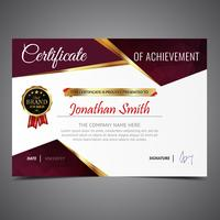 Purple Cool Diploma Template