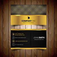 Silver And Gold Abstract Business Card
