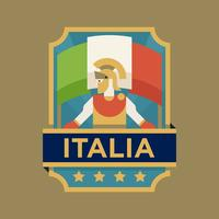Italy World Cup Soccer Badges vector