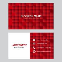 Free Vector Red Squares Business Card Template