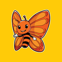 Butterfly Insect Mascot