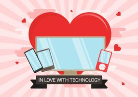 In der Liebe mit Technologie Illustration