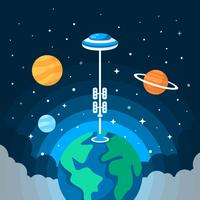 Space Elevator Illustration