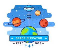 Space Elevator Concept Illustratie