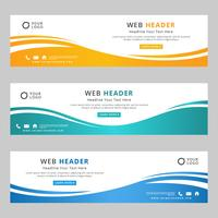 Abstract Corporate Web Header vector