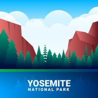 Yosemite National Park Vector Illustration