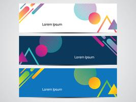 Abstract Geometric Web Header Set