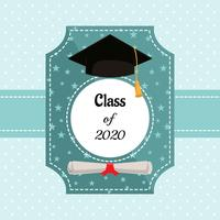 Modèle de vecteur de carte de graduation