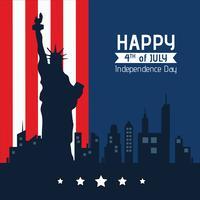 Fundo do dia da independência americana