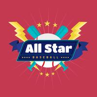 Emblema do vetor de All Star do basebol