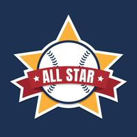 Gráfico de All Star do basebol ou do softball