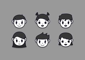 Vector de dibujos animados de Inkblot