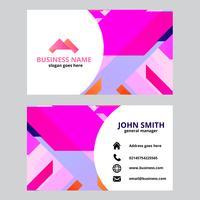 Sjabloon voor roze geometrische visitekaartjes