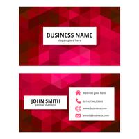 Pink Geometric Business Card