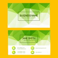 Green Geometric Business Card