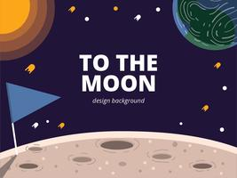 Moon Spacescape Background vector