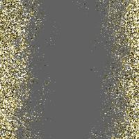 Golden Glitter In A Transparent Background vector