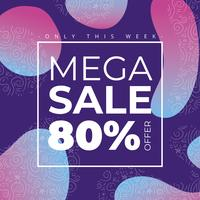 Gradient Mega Sale Background