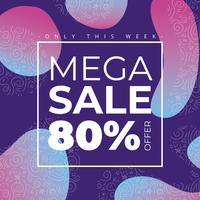 Gradient Mega Sale Bakgrund