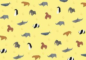 Origami Animal Pattern Vector