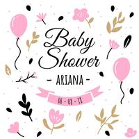 Baby Shower Background vector